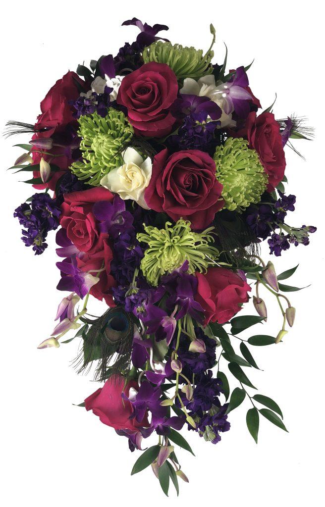 bright vibrant wedding flowers summer